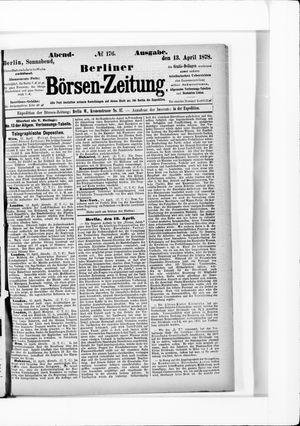 Berliner Börsen-Zeitung vom 13.04.1878