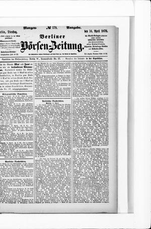 Berliner Börsen-Zeitung vom 16.04.1878
