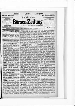 Berliner Börsen-Zeitung vom 17.04.1878