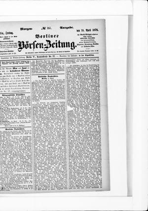 Berliner Börsen-Zeitung vom 19.04.1878