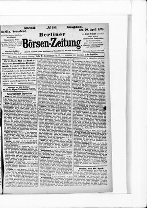 Berliner Börsen-Zeitung vom 20.04.1878
