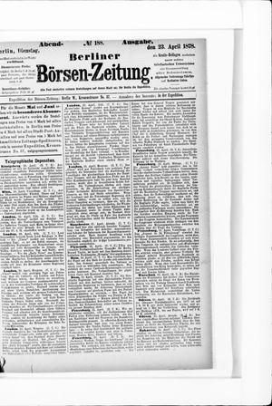 Berliner Börsen-Zeitung vom 23.04.1878