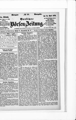 Berliner Börsen-Zeitung vom 24.04.1878