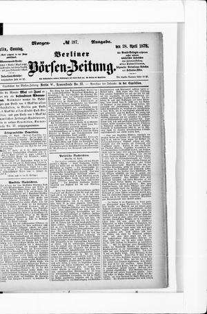 Berliner Börsen-Zeitung vom 28.04.1878