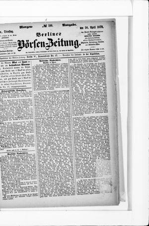 Berliner Börsen-Zeitung vom 30.04.1878