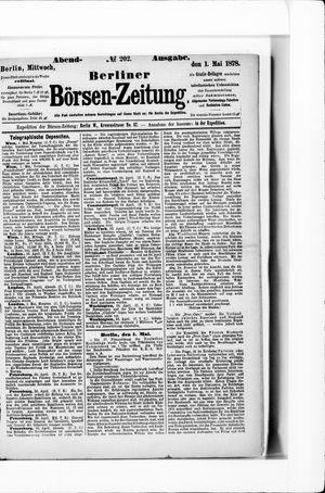 Berliner Börsen-Zeitung vom 01.05.1878
