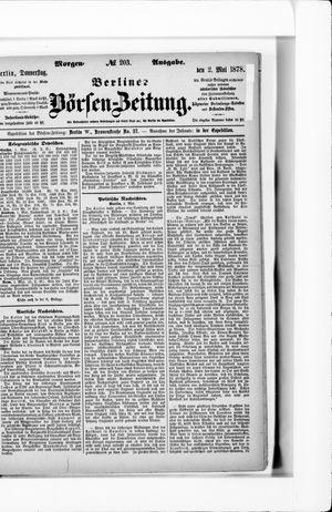 Berliner Börsen-Zeitung vom 02.05.1878