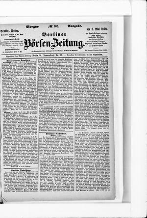 Berliner Börsen-Zeitung vom 03.05.1878