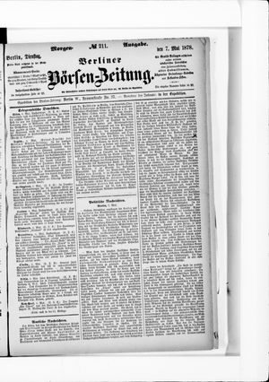 Berliner Börsen-Zeitung vom 07.05.1878