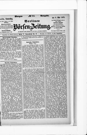 Berliner Börsen-Zeitung vom 09.05.1878