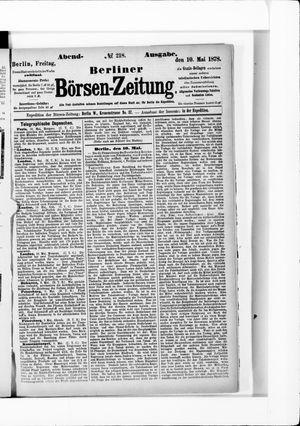 Berliner Börsen-Zeitung vom 10.05.1878