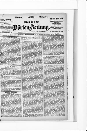 Berliner Börsen-Zeitung vom 12.05.1878