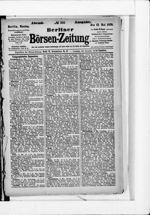 Berliner Börsen-Zeitung vom 13.05.1878