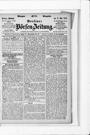 Berliner Börsen-Zeitung vom 15.05.1878