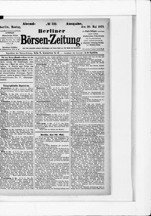 Berliner Börsen-Zeitung vom 20.05.1878