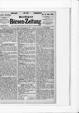 Berliner Börsen-Zeitung vom 21.05.1878