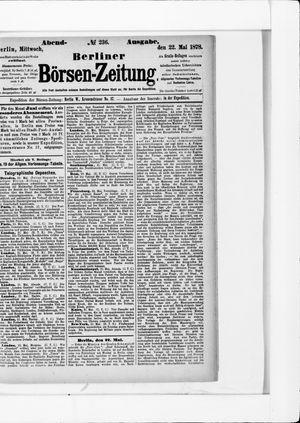 Berliner Börsen-Zeitung vom 22.05.1878