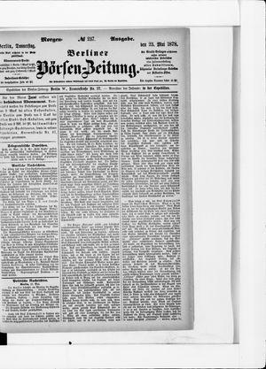 Berliner Börsen-Zeitung vom 23.05.1878