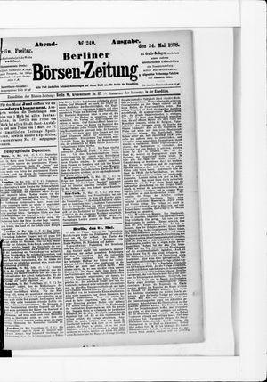 Berliner Börsen-Zeitung vom 24.05.1878
