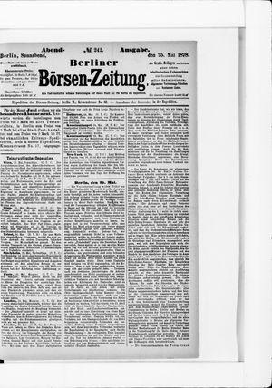 Berliner Börsen-Zeitung vom 25.05.1878