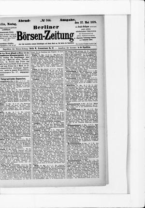 Berliner Börsen-Zeitung vom 27.05.1878
