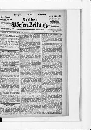 Berliner Börsen-Zeitung vom 28.05.1878