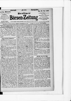 Berliner Börsen-Zeitung vom 29.05.1878