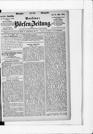 Berliner Börsen-Zeitung vom 30.05.1878