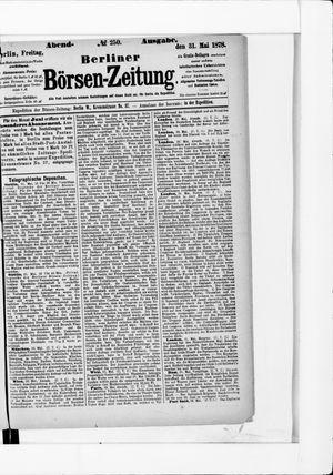 Berliner Börsen-Zeitung vom 31.05.1878