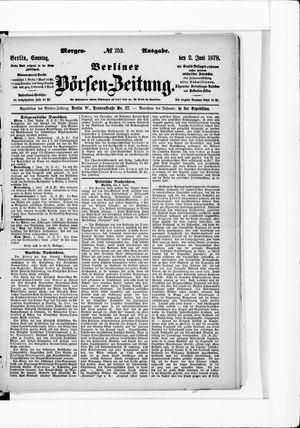 Berliner Börsen-Zeitung vom 02.06.1878