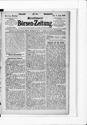 Berliner Börsen-Zeitung vom 03.06.1878