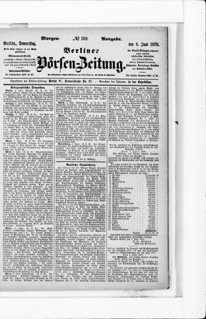 Berliner Börsen-Zeitung vom 06.06.1878