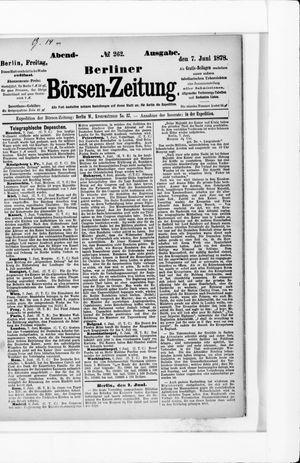 Berliner Börsen-Zeitung vom 07.06.1878