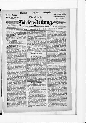 Berliner Börsen-Zeitung vom 09.06.1878
