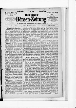 Berliner Börsen-Zeitung vom 11.06.1878