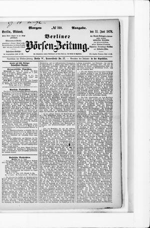 Berliner Börsen-Zeitung vom 12.06.1878