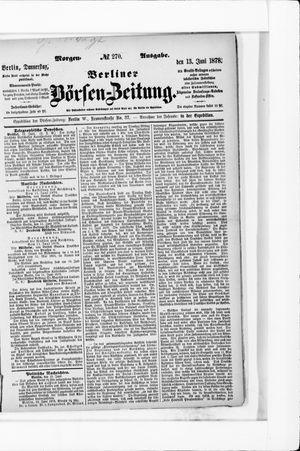 Berliner Börsen-Zeitung vom 13.06.1878
