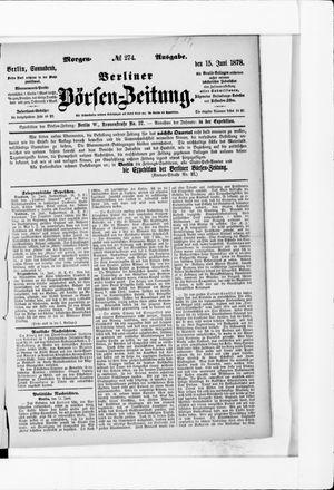 Berliner Börsen-Zeitung vom 15.06.1878