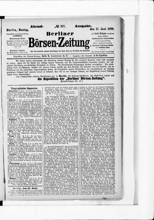 Berliner Börsen-Zeitung vom 17.06.1878