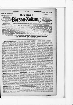 Berliner Börsen-Zeitung on Jun 18, 1878