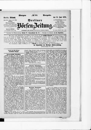 Berliner Börsen-Zeitung vom 19.06.1878