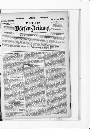 Berliner Börsen-Zeitung vom 20.06.1878
