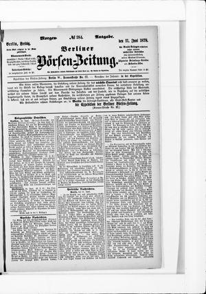 Berliner Börsen-Zeitung vom 21.06.1878