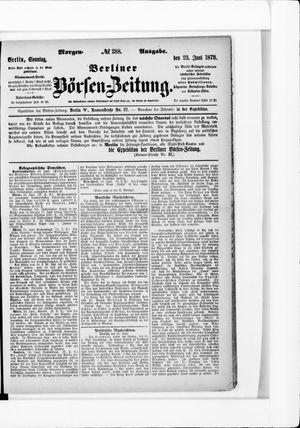 Berliner Börsen-Zeitung vom 23.06.1878