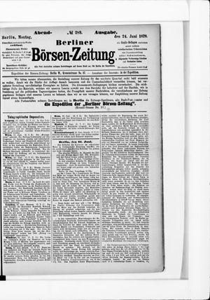 Berliner Börsen-Zeitung vom 24.06.1878