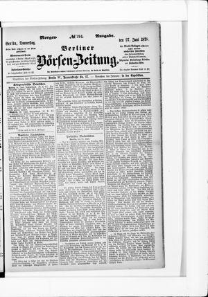 Berliner Börsen-Zeitung vom 27.06.1878