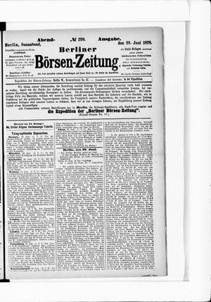 Berliner Börsen-Zeitung vom 29.06.1878