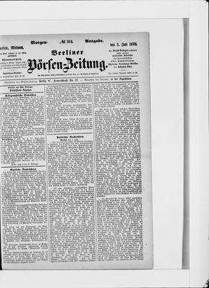 Berliner Börsen-Zeitung vom 03.07.1878