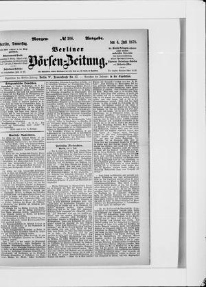 Berliner Börsen-Zeitung vom 04.07.1878