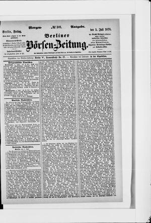 Berliner Börsen-Zeitung vom 05.07.1878